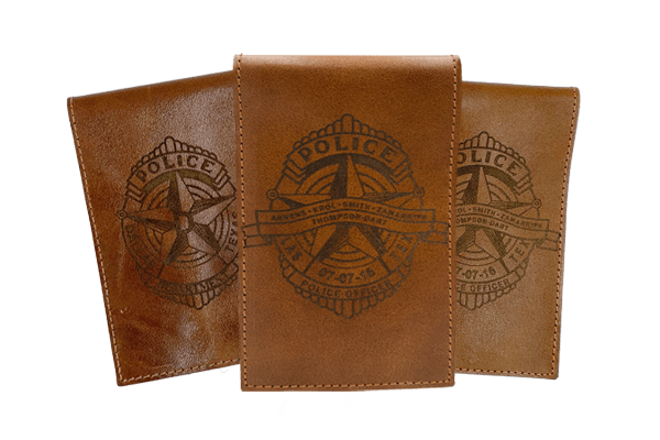Leather whip-out book